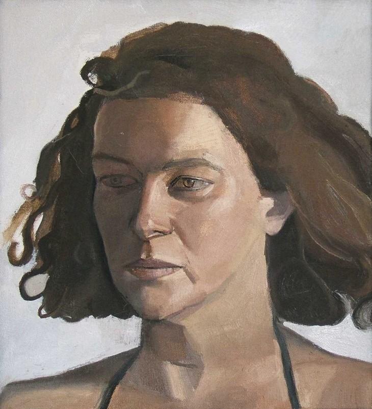 DIANA 1987 28 x 26 cms oil on canvas