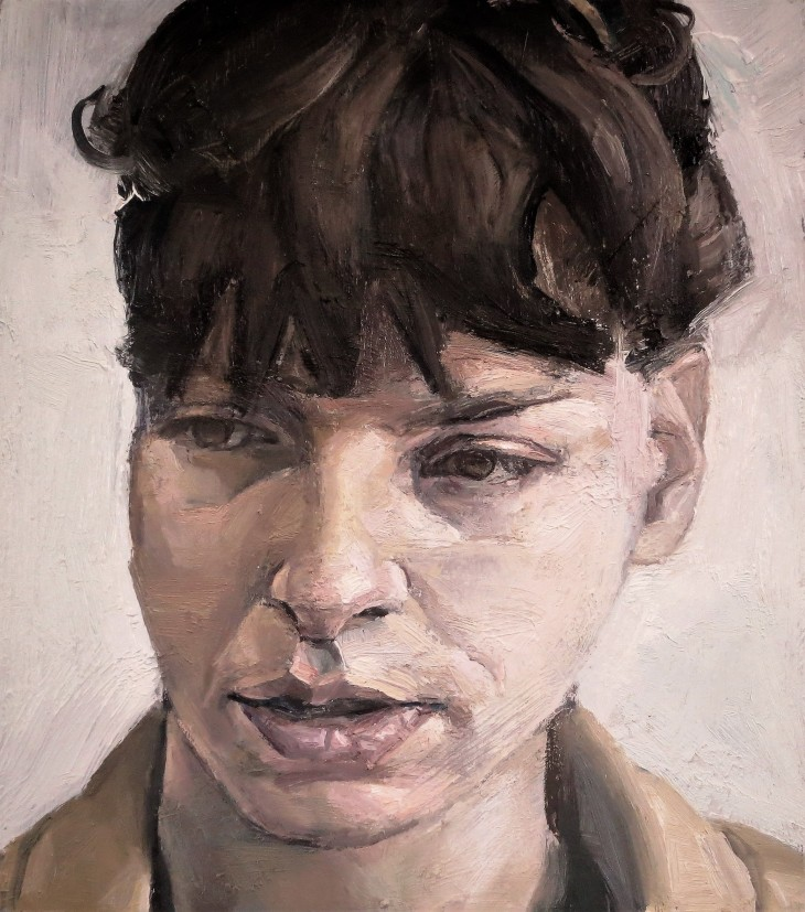 KARINA small portrait 2017 19 x 17 cms oil on panel