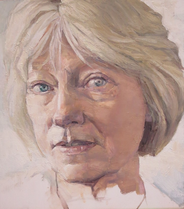 PORTRAIT OF MARY ROMER 2016 25 x 27 cms oil on panel