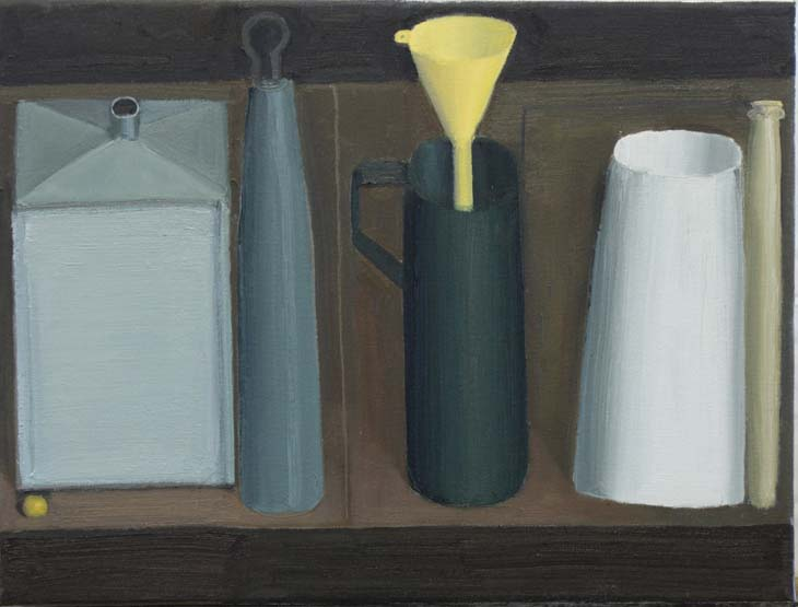 5 OBJECTS 2020 30.5 x 40.5 cms oil on panel
