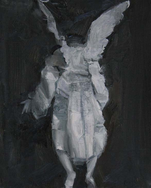 BACK OF AN ANGEL 2016 oil on panel 21 x 26 cms