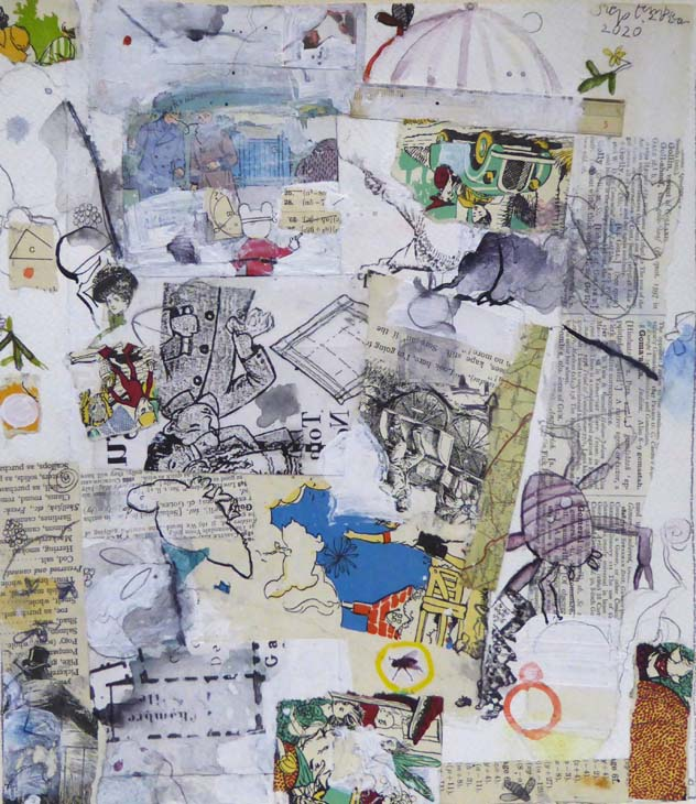 COLLAGE 2020 27 x24 cms mixed media on paper