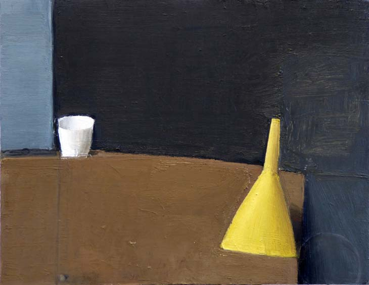 CUP and FUNNEL 2020 27 x 34.5 cms oil on panel