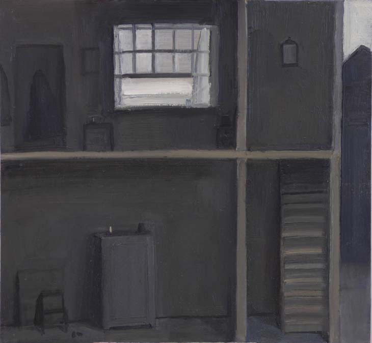 FOUNTAIN COURT (to WB) 2020 25 x 27 cms oil on panel