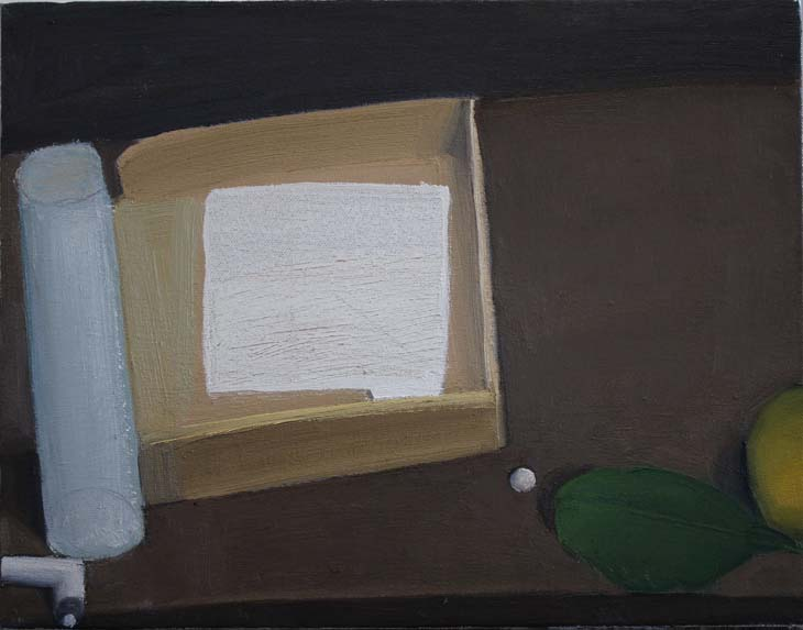OBJECTS ON A TABLE 2020 28 x 36 cms oil on canvas