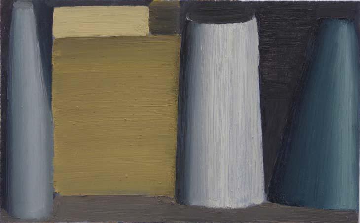 ROW 2020 oil on canvas 23.5 x 38 cms